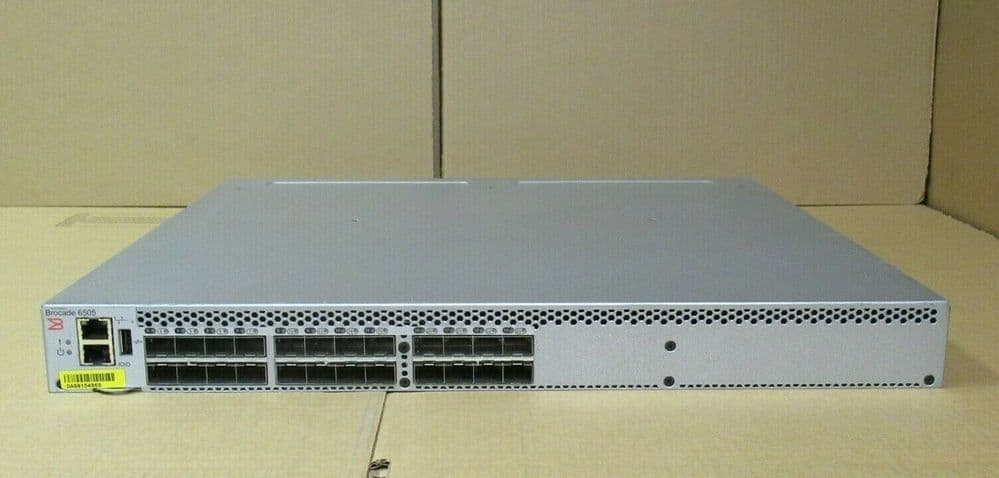 Brocade 6505 24 x 16G Ports Active 16GB FC Fibre Switch With x 2 Power Supplies